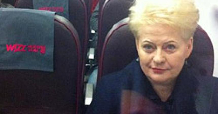Президент Литвы полетела на похороны Маргарет Тэтчер на Wizzair