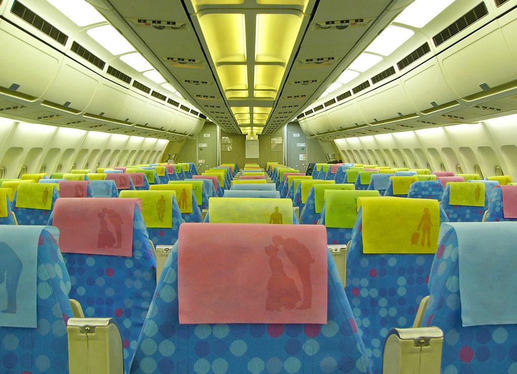 В салоне самолёта S7