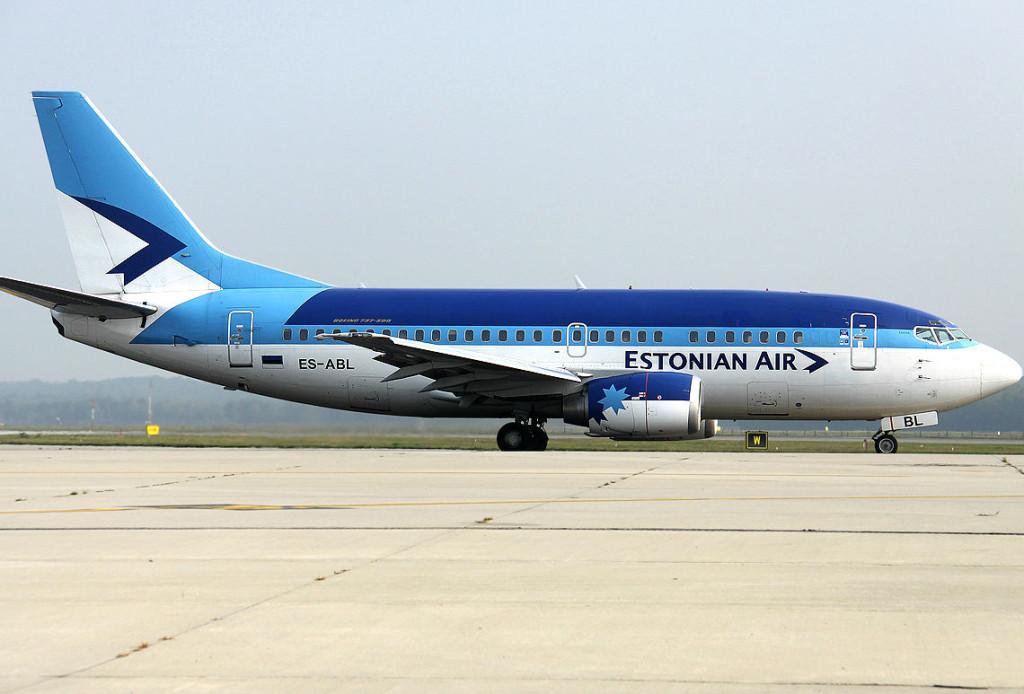 Самолёт авиакомпании Estonian Air