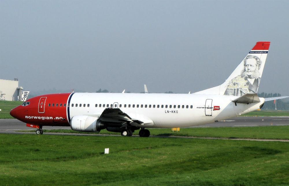 Самолёт авиакомпании Norwegian