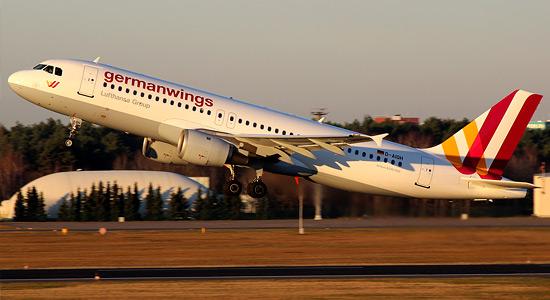 «Аэробус А320» авиакомпании «Германвингз» в аэропорту Тегель