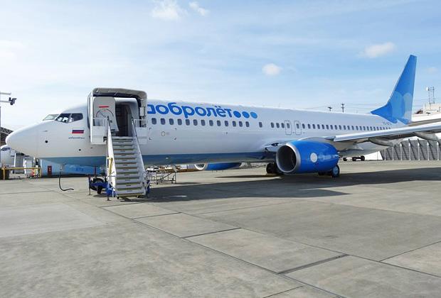 «Боинг 373-800» уже окрашен в фирменные небесно-голубые цвета «Добролета» и ожидает отправки в Москву в апреле.