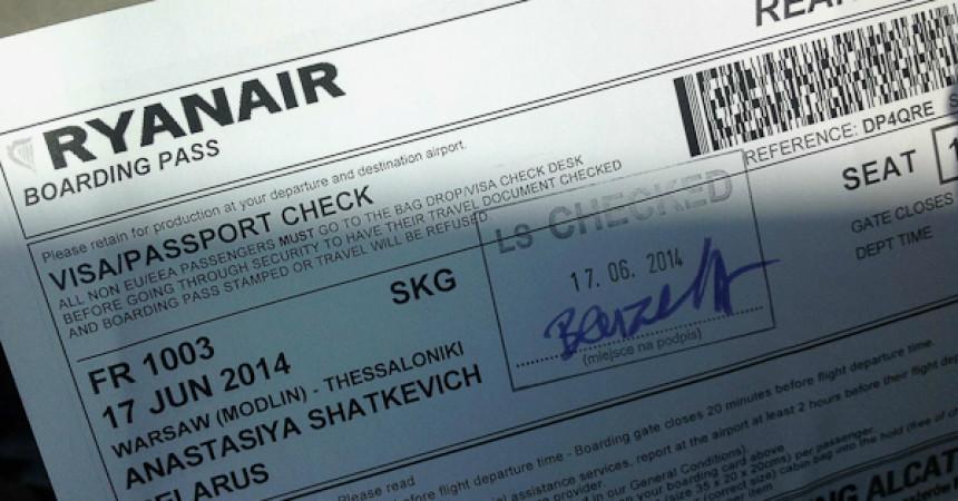 Лоукостер Ryanair. Вылет из Варшавы по шагам