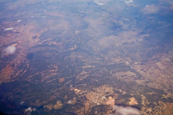 фотографии из иллюминатора самолета