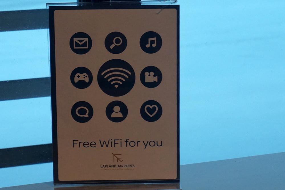 Wi-Fi в аэропорту Киттиля безлимитный и бесплатный